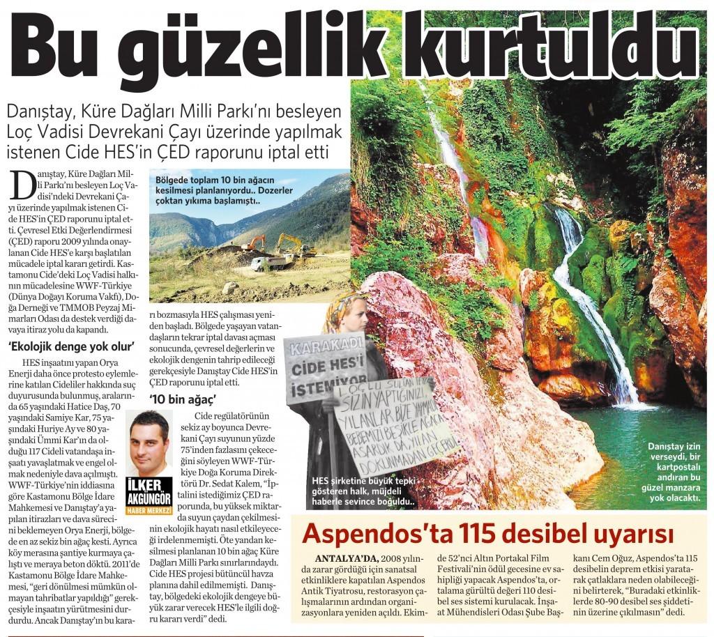 12 Ağustos 2015 Vatan Gazetesi 3. sayfa