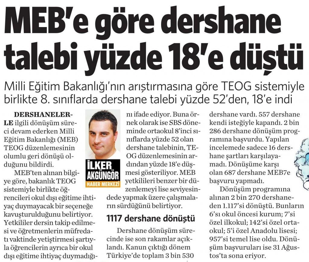 17 Ağustos 2015 Vatan Gazetesi 4. sayfa