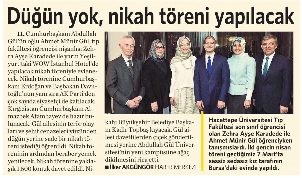 21 Ağustos 2015 Vatan Gazetesi 14. sayfa