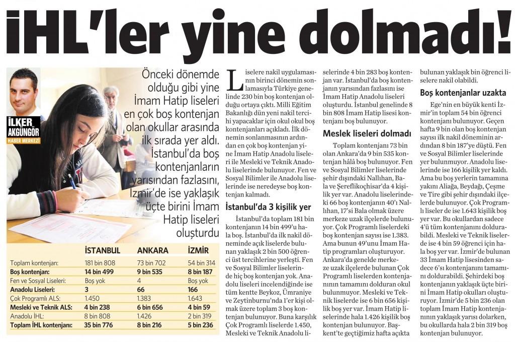 26 Ağustos 2015 Vatan Gazetesi 4. sayfa
