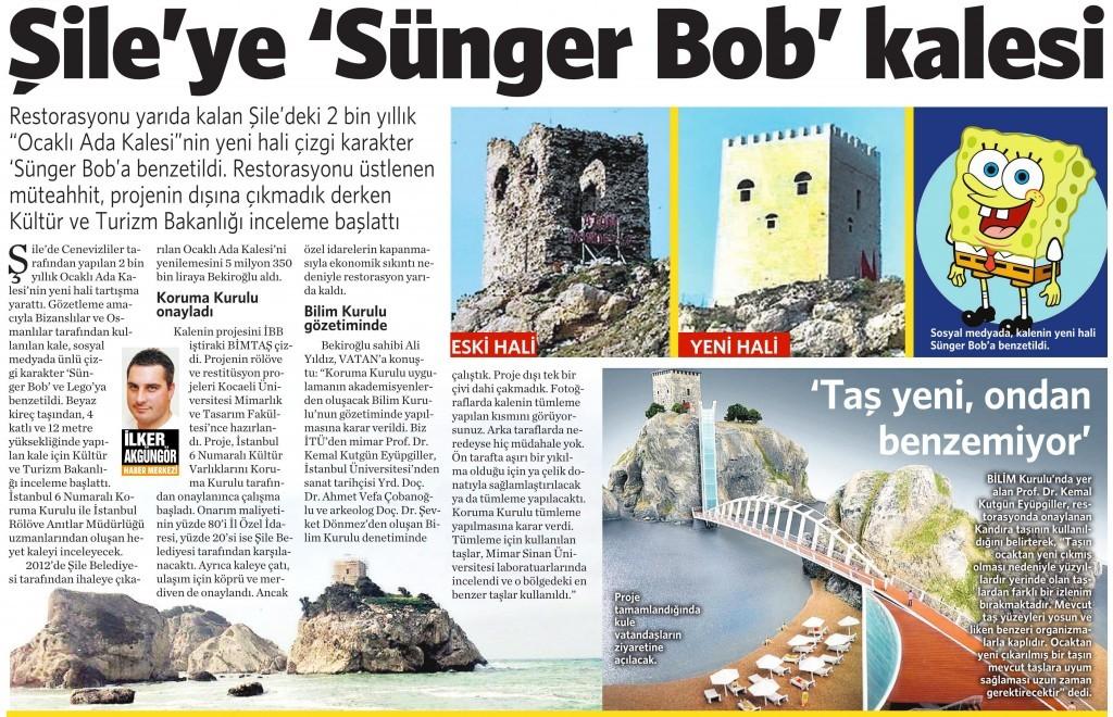 27 Ağustos 2015 Vatan Gazetesi 2. sayfa