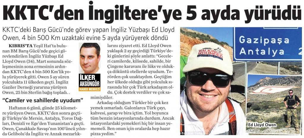 7 Eylül 2015 Vatan Gazetesi 6. sayfa