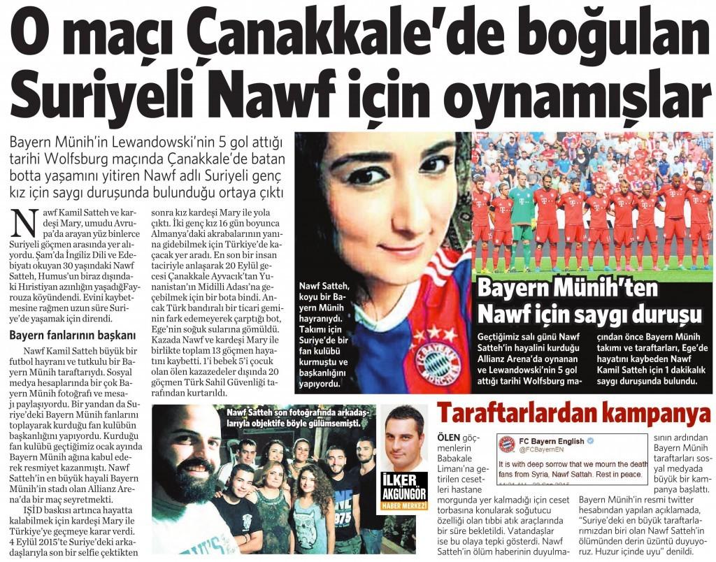 25 Eylül 2015 Vatan Gazetesi 9. sayfa