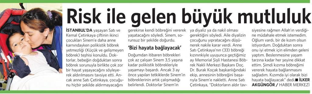 26 Eylül 2015 Vatan Gazetesi 4. sayfa