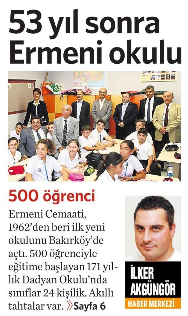 5 Ekim 2015 Vatan Gazetesi 1. sayfa