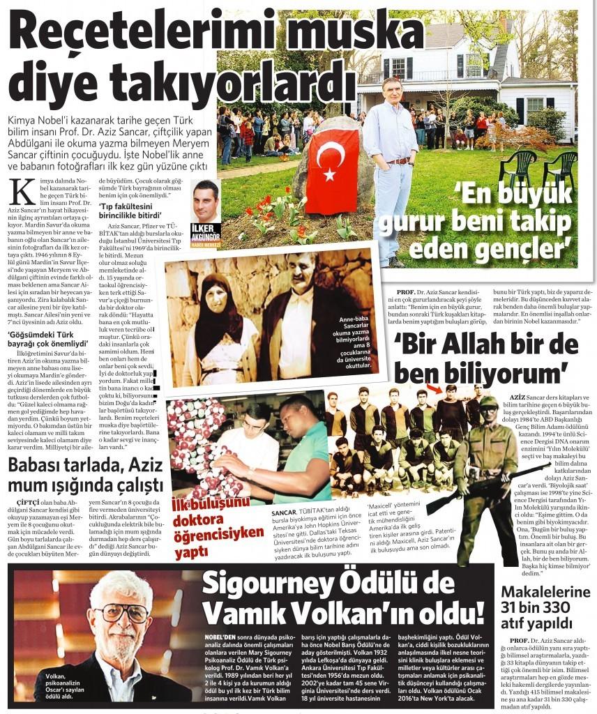 9 Ekim 2015 Vatan Gazetesi 4. sayfa