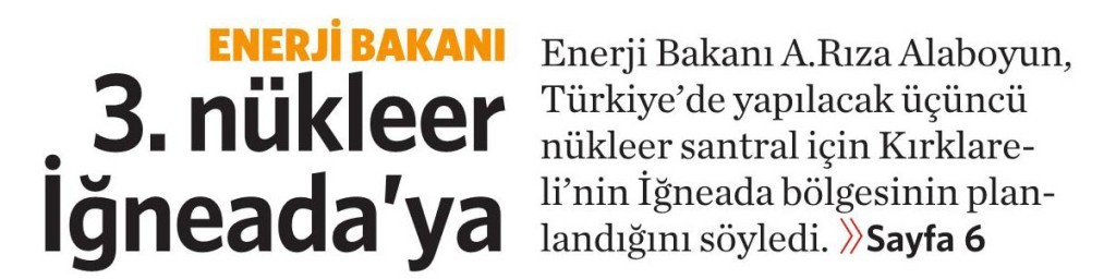 15 Ekim 2015 Vatan Gazetesi 1. sayfa