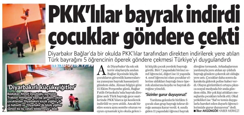 20 Ekim 2015 Vatan Gazetesi 12. sayfa