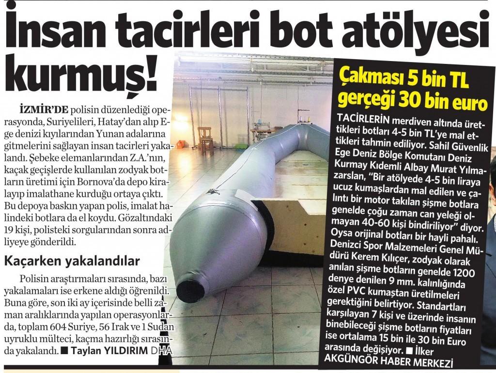 31 Ekim 2015 Vatan Gazetesi 13. sayfa