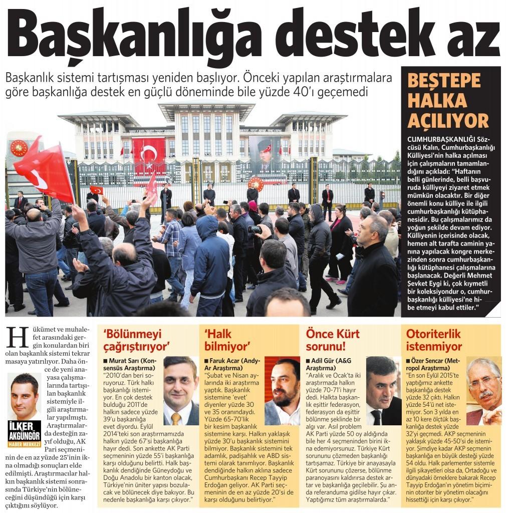 5 Kasım 2015 Vatan Gazetesi 15. sayfa