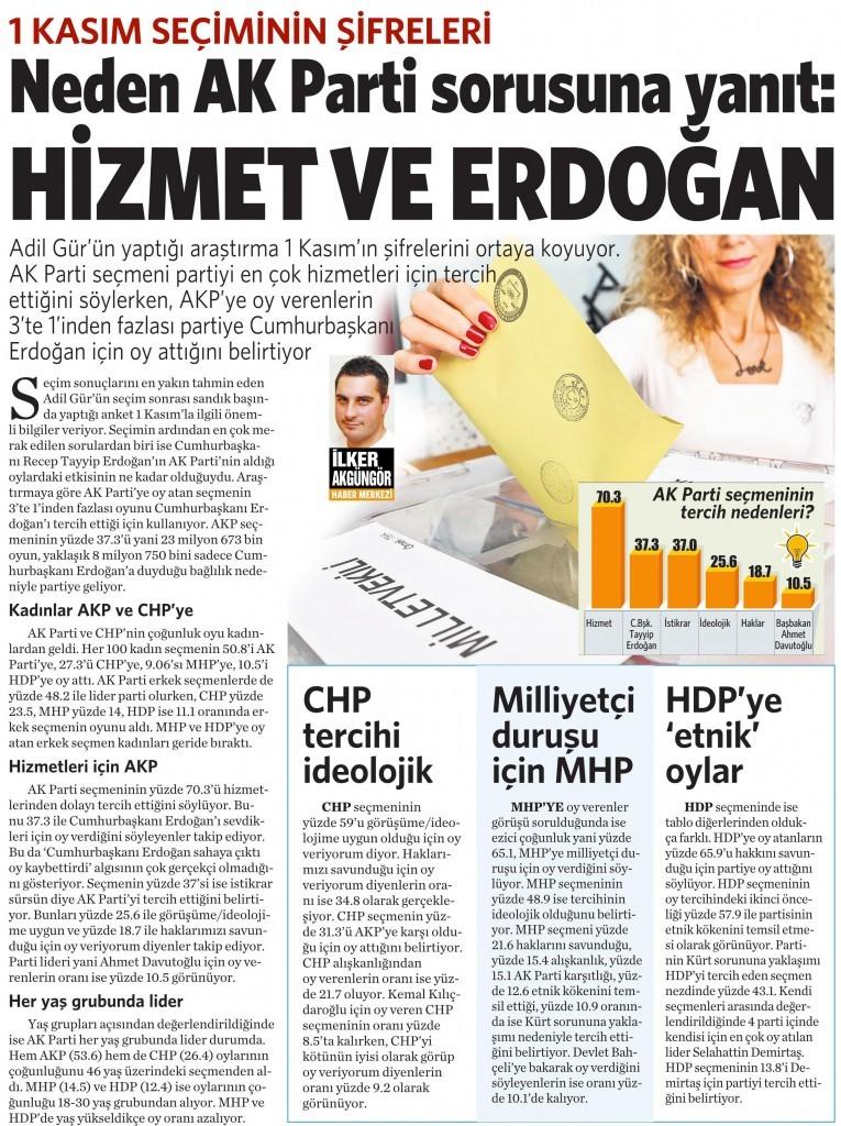 6 Kasım 2015 Vatan Gazetesi 14. sayfa
