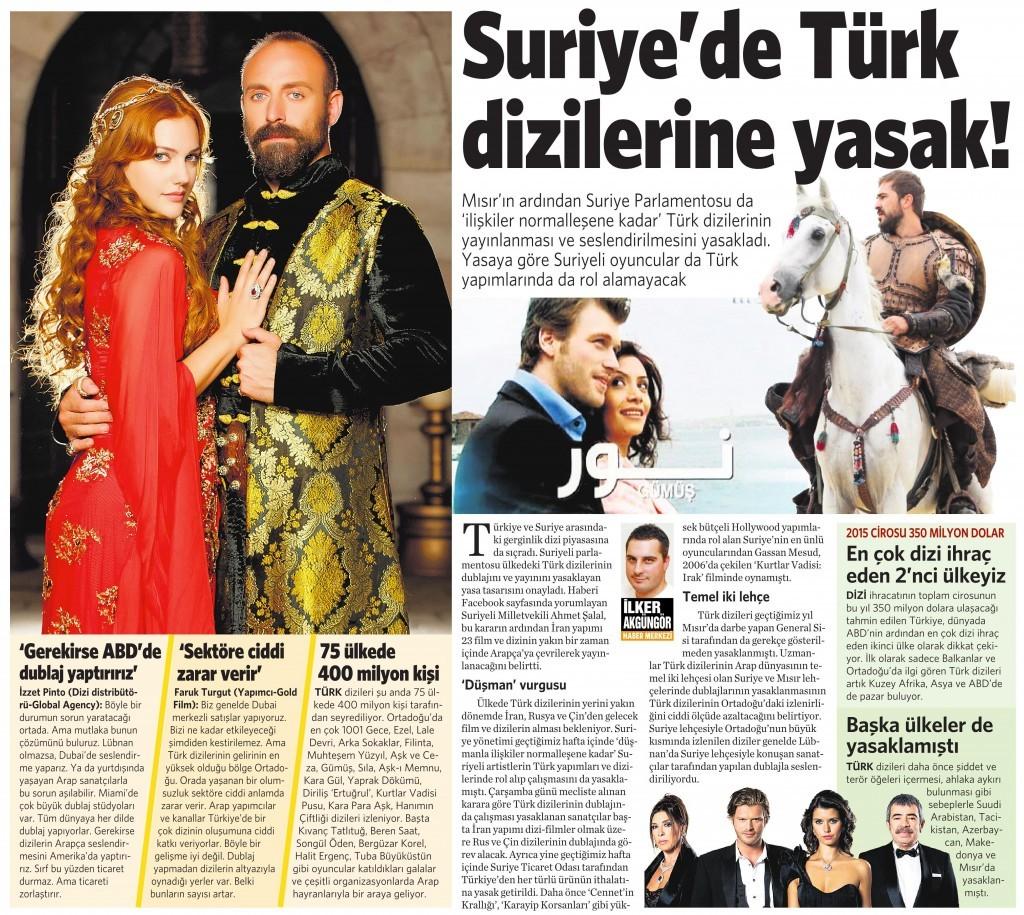 8 Kasım 2015 Vatan Gazetesi 12. sayfa