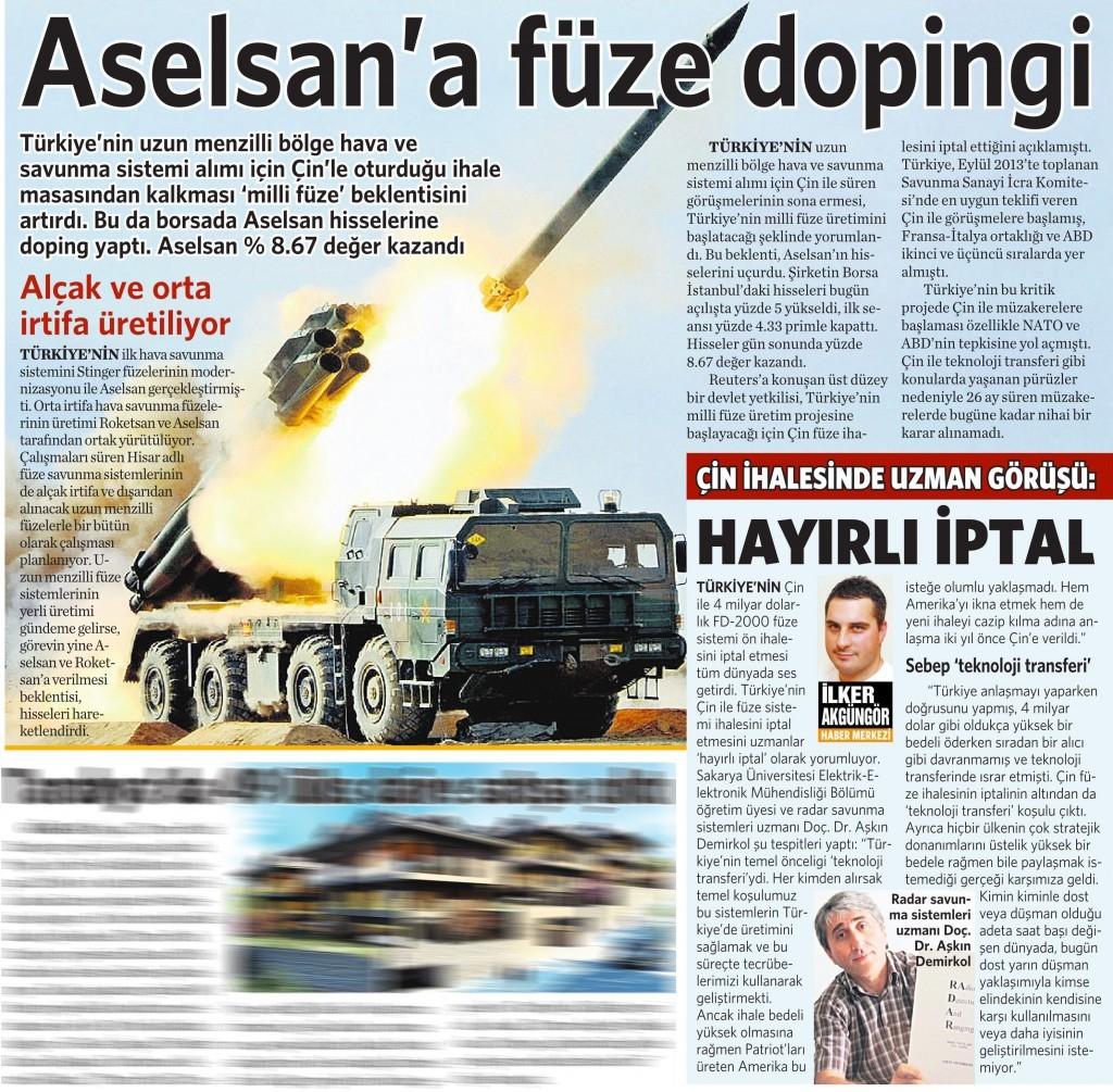17 Kasım 2015 Vatan Gazetesi 8. sayfa