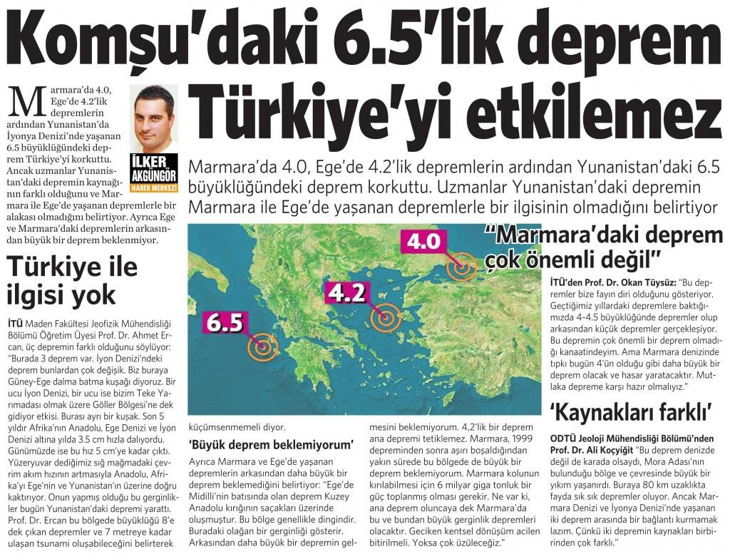 18 Kasım 2015 Vatan Gazetesi 2. sayfa