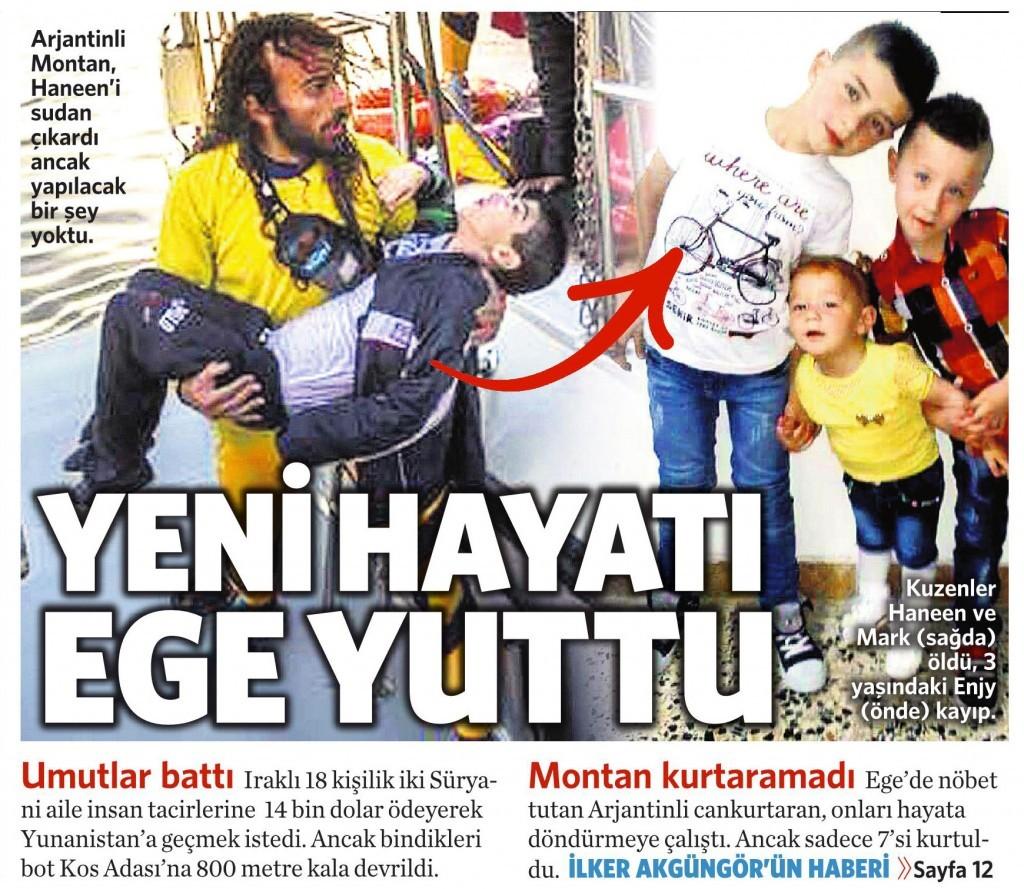 23 Kasım 2015 Vatan Gazetesi 1. sayfa