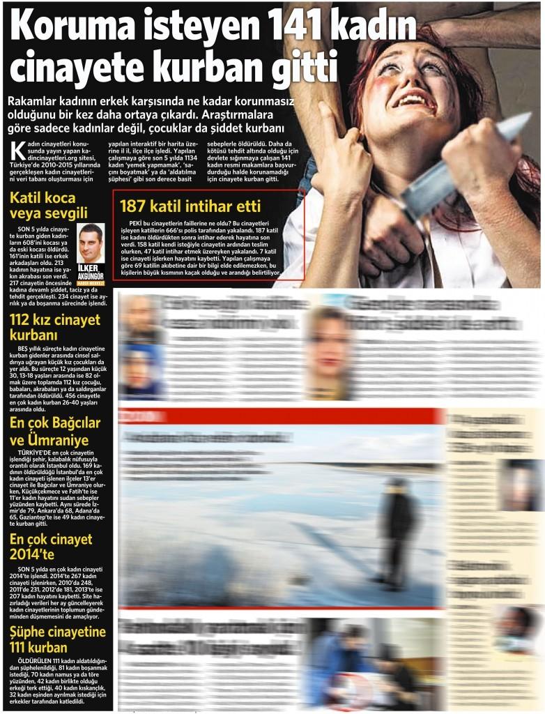 25 Kasım 2015 Vatan Gazetesi 2. sayfa