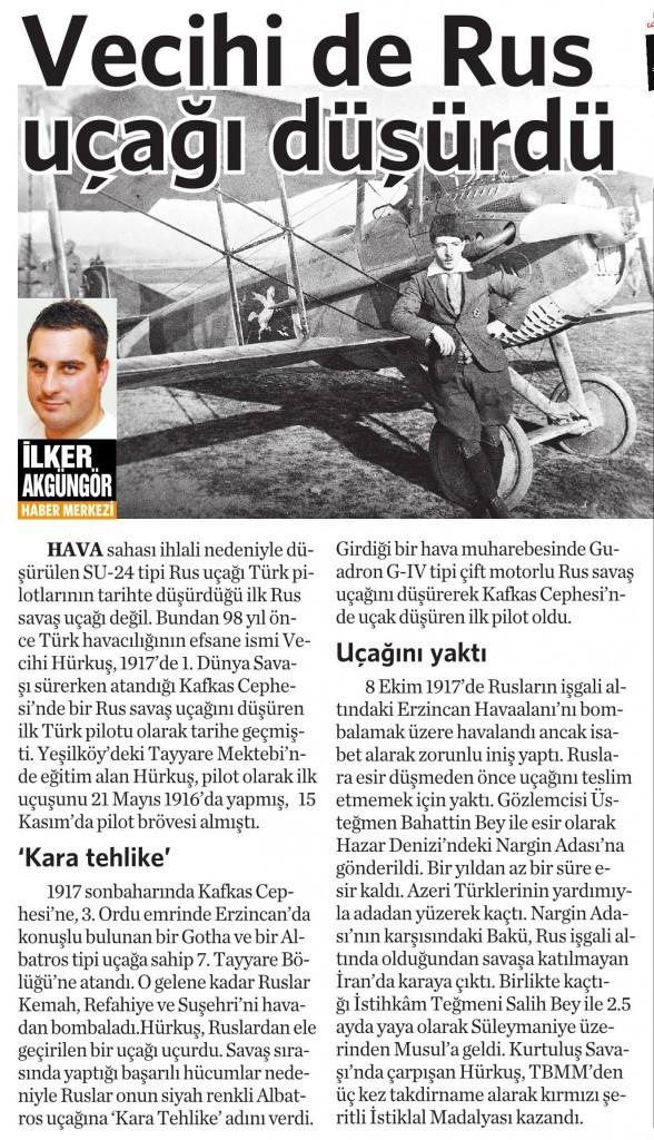26 Kasım 2015 Vatan Gazetesi 13. sayfa