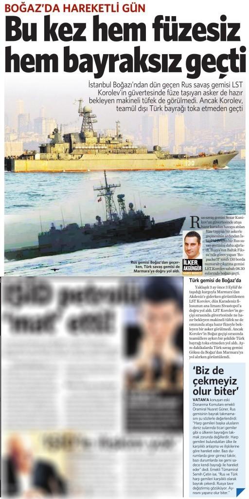 8 Aralık 2015 Vatan Gazetesi 13. sayfa