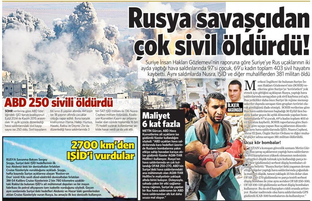 10 Aralık 2015 Vatan Gazetesi 13. sayfa