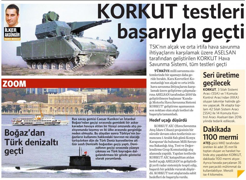 13 Aralık 2015 Vatan Gazetesi 12. sayfa