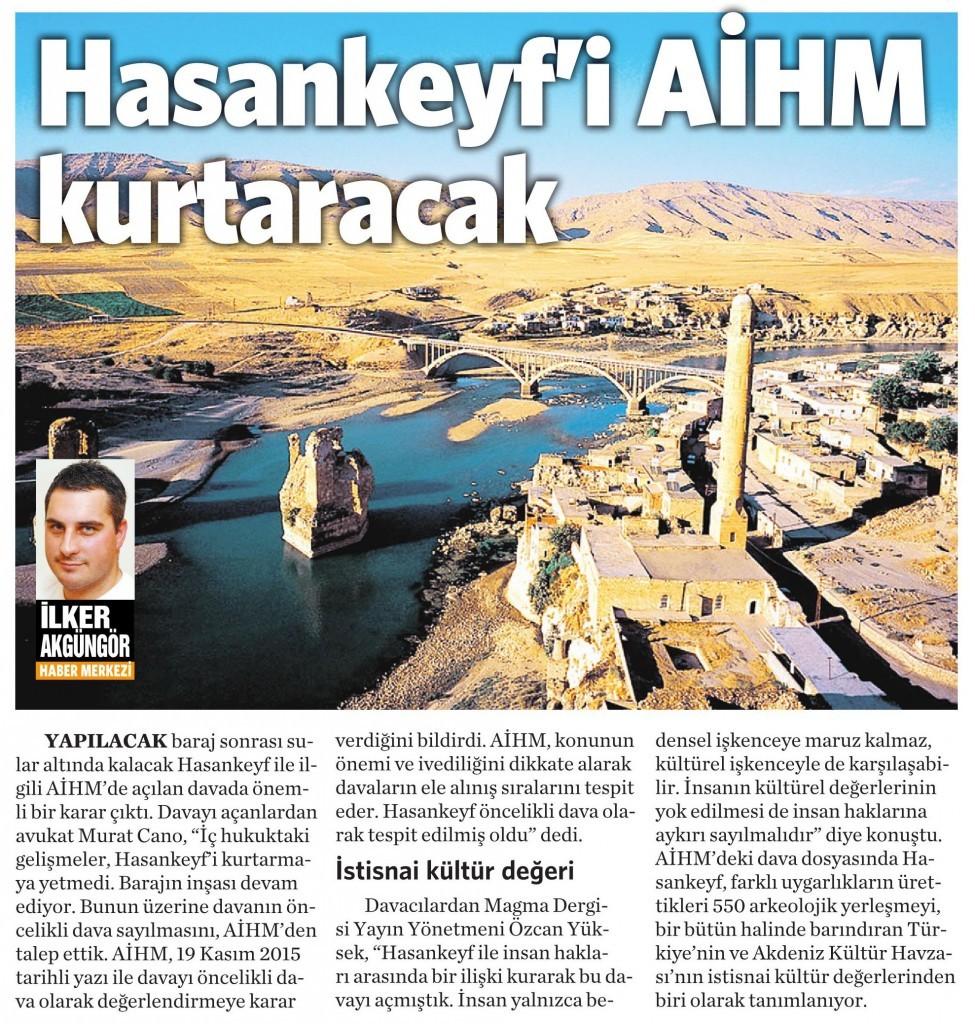 17 Aralık 2015 Vatan Gazetesi 6. sayfa