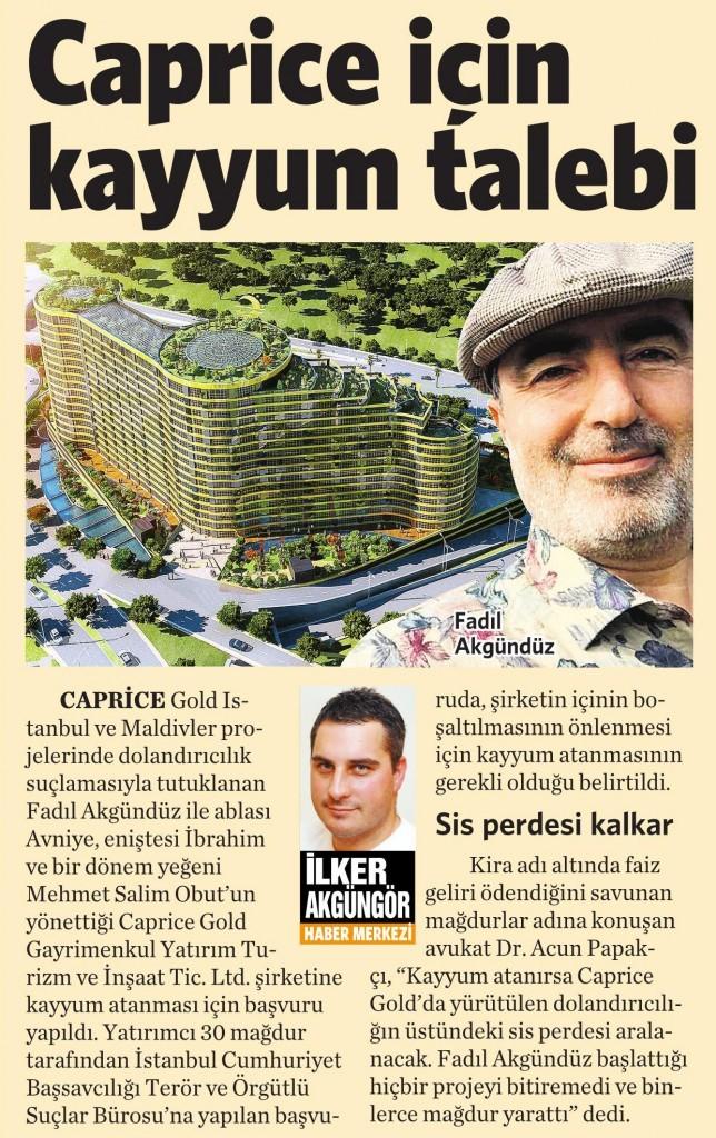 23 Aralık 2015 Vatan Gazetesi 8. sayfa
