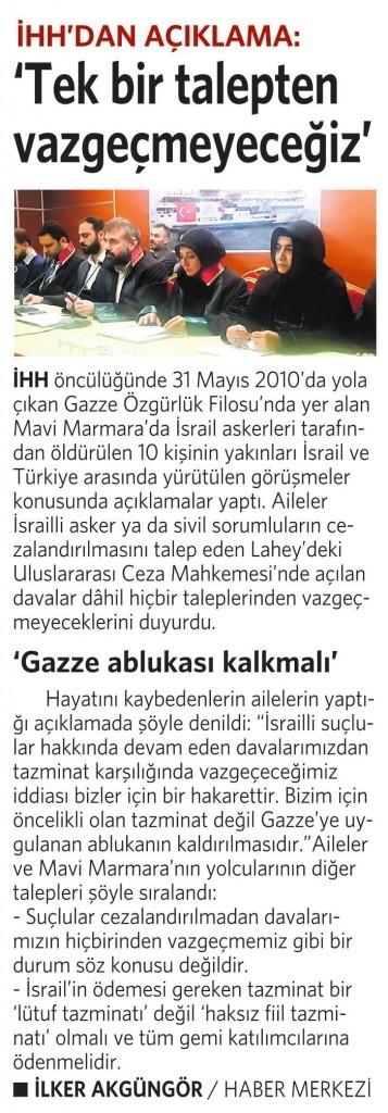 12 Ocak 2016 Vatan Gazetesi 16. sayfa