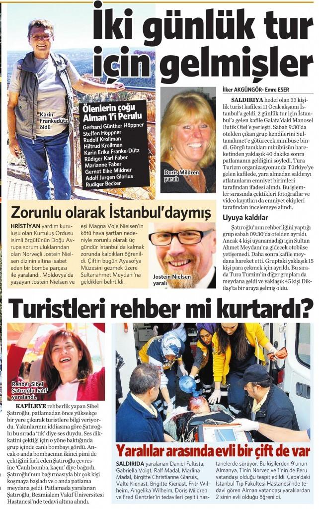 13 Ocak 2016 Vatan Gazetesi 13. sayfa
