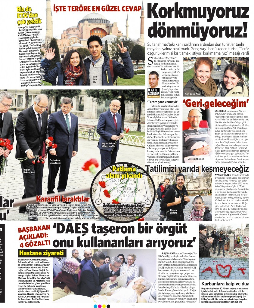 14 Ocak 2016 Vatan Gazetesi 13. sayfa
