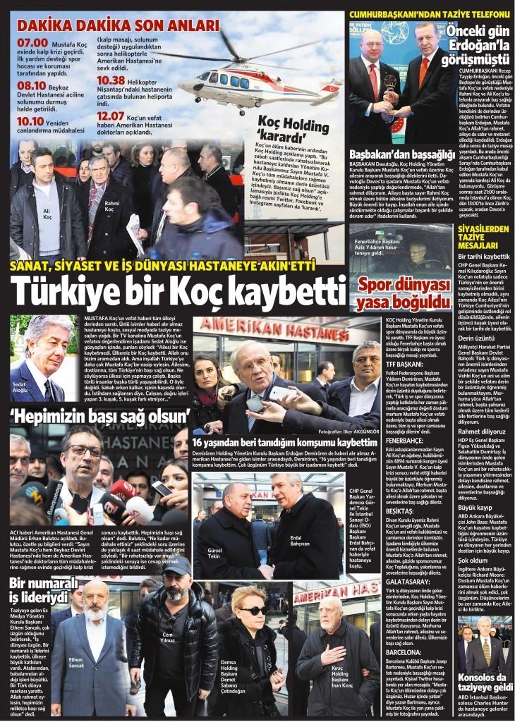 22 Ocak 2016 Vatan Gazetesi 13. sayfa