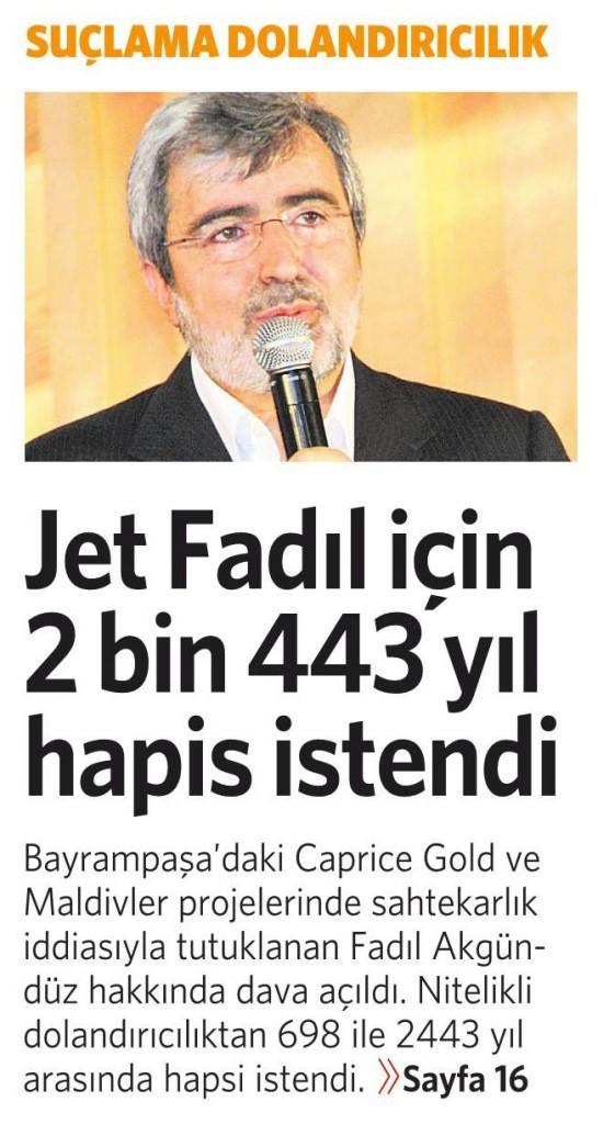 26 Ocak 2016 Vatan Gazetesi 1. sayfa