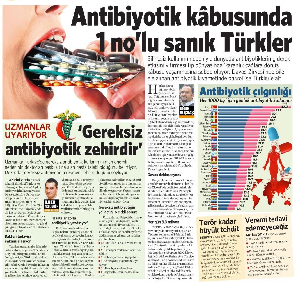 28 Ocak 2016 Vatan Gazetesi 4. sayfa