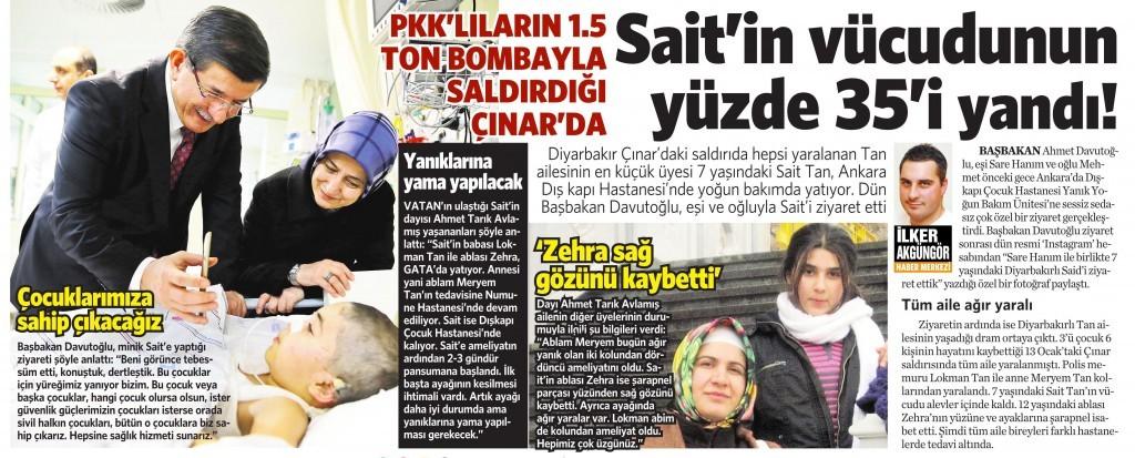 30 Ocak 2016 Vatan Gazetesi 12. sayfa