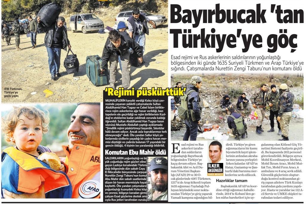 1 Şubat 2016 Vatan Gazetesi 10. sayfa