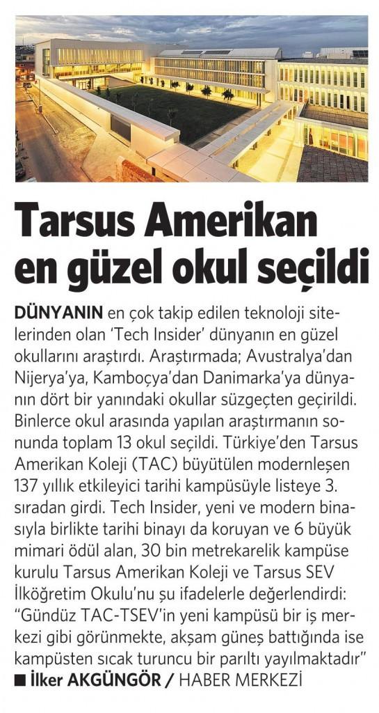 3 Şubat 2016 Vatan Gazetesi 6. sayfa