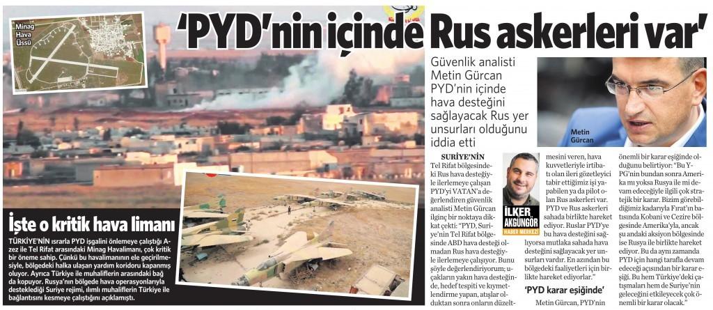 17 Şubat 2016 Vatan Gazetesi 12. sayfa