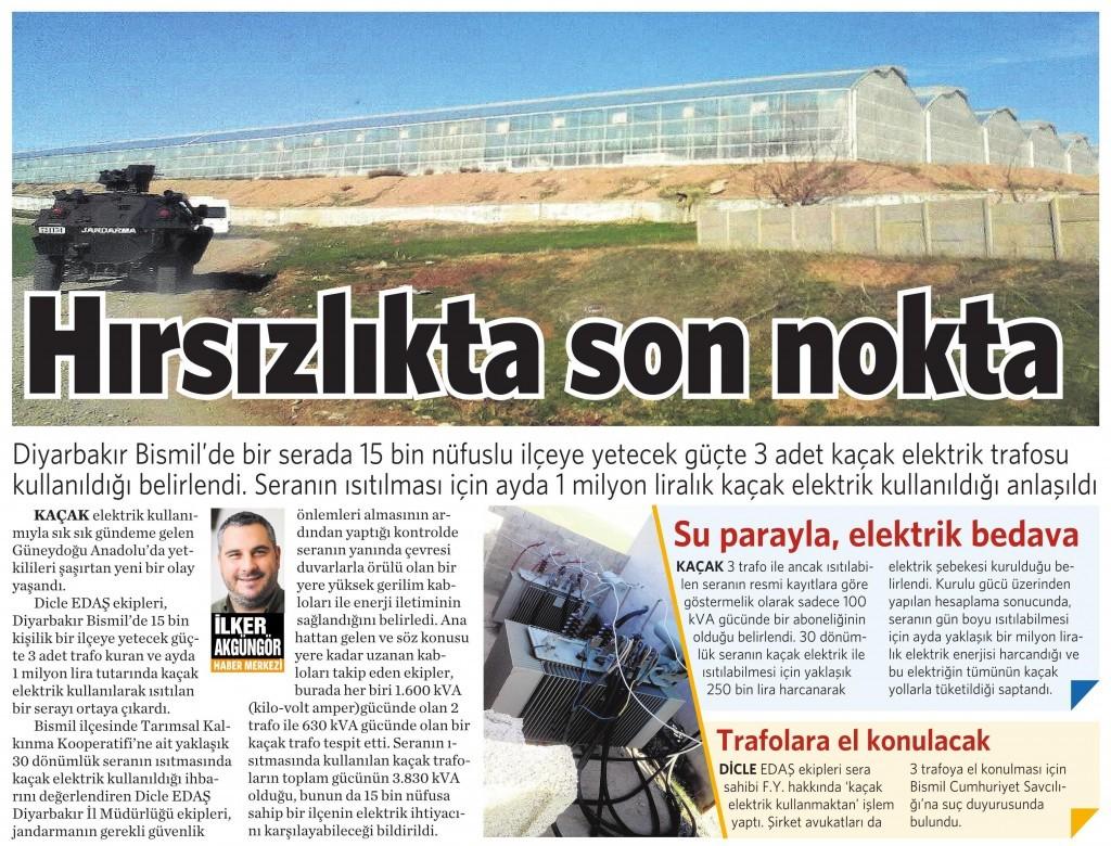 19 Şubat 2016 Vatan Gazetesi 7. sayfa