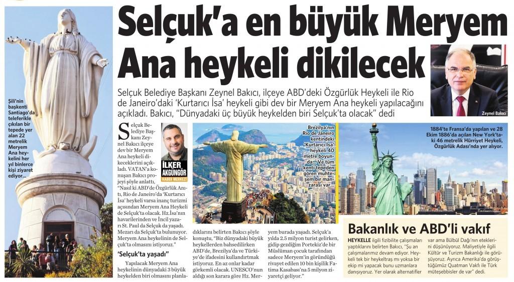 22 Şubat 2016 Vatan Gazetesi 2. sayfa