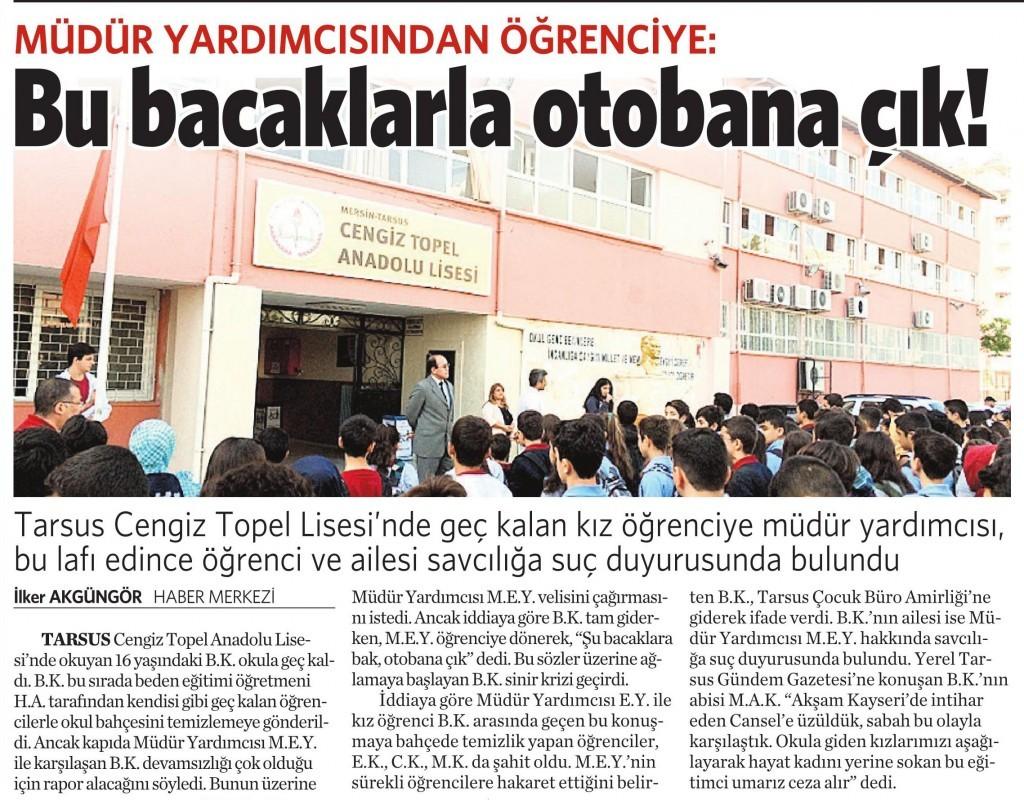 24 Şubat 2016 Vatan Gazetesi 6. sayfa