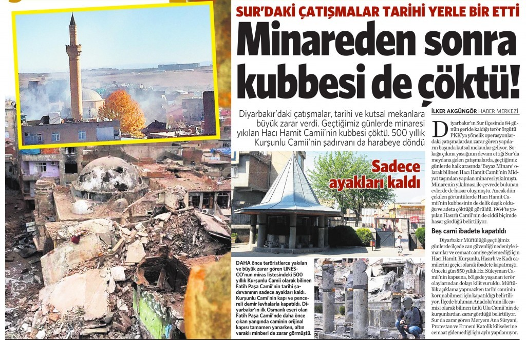24 Şubat 2016 Vatan Gazetesi 12. sayfa