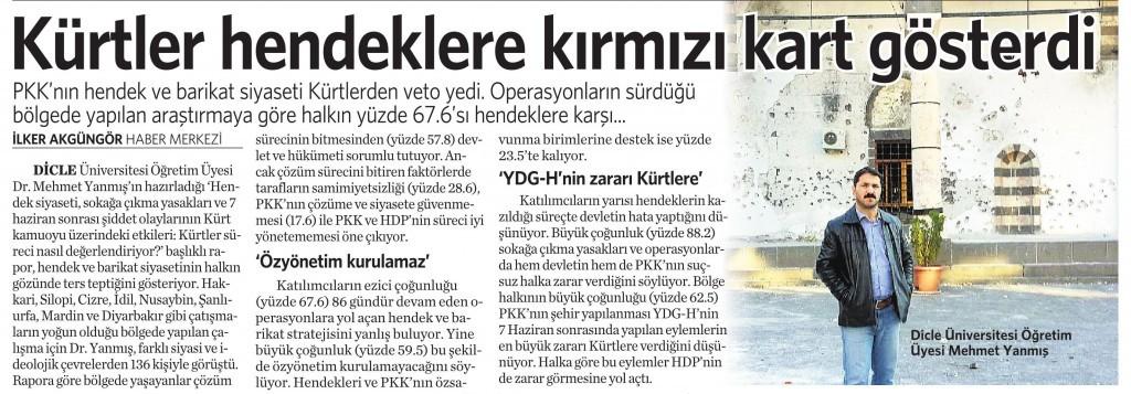 26 Şubat 2016 Vatan Gazetesi 12. sayfa
