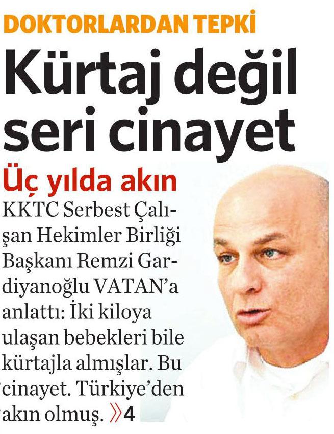 29 Şubat 2016 Vatan Gazetesi 1. sayfa