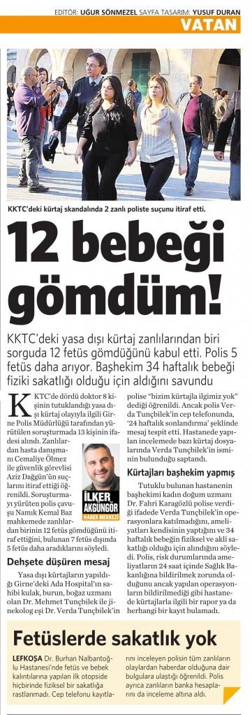 2 Mart 2016 Vatan Gazetesi 6. sayfa
