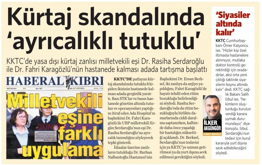 3 Mart 2016 Vatan Gazetesi 4. sayfa