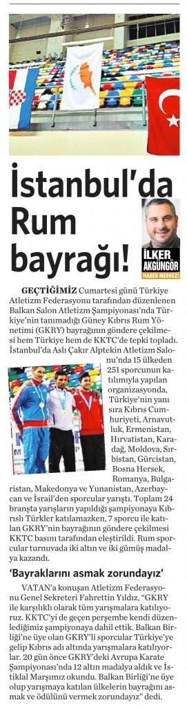 3 Mart 2016 Vatan Gazetesi 5. sayfa