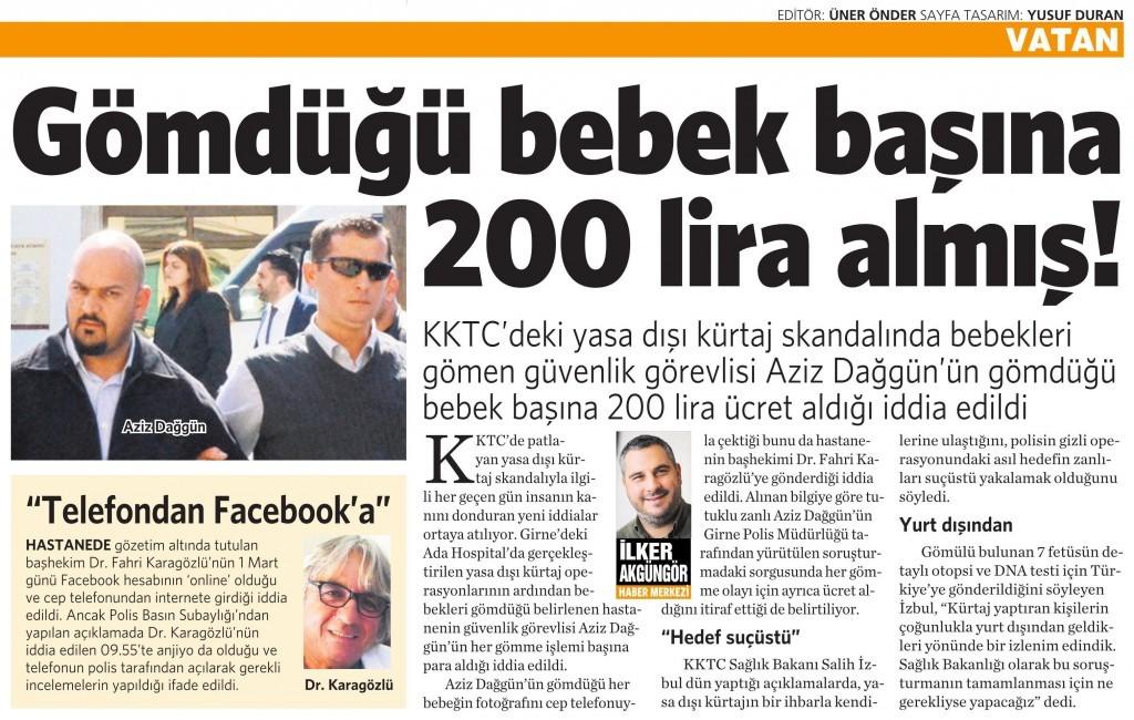 4 Mart 2016 Vatan Gazetesi 4. sayfa