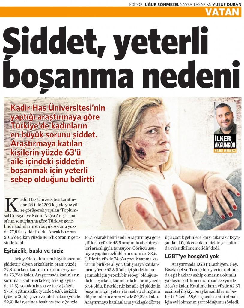 5 Mart 2016 Vatan Gazetesi 6. sayfa