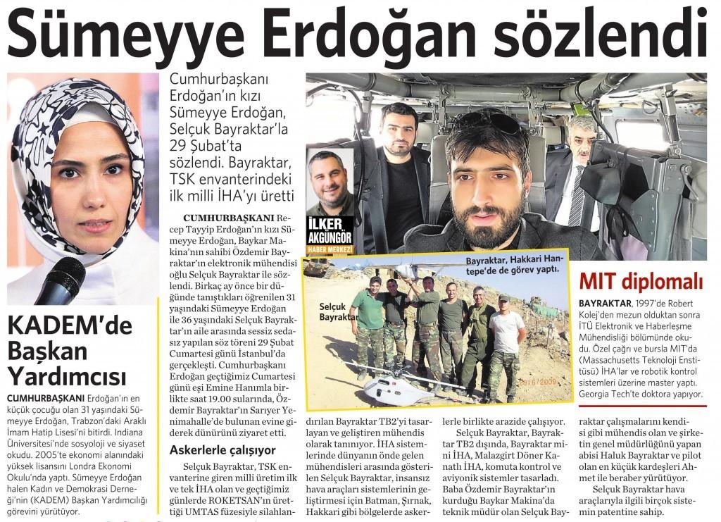 8 Mart 2016 Vatan Gazetesi 16. sayfa