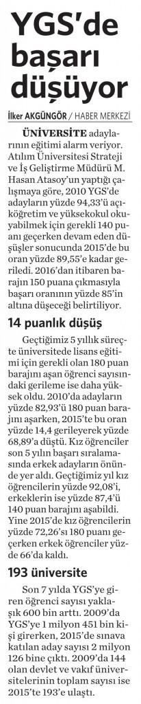 9 Mart 2016 Vatan Gazetesi 6. sayfa
