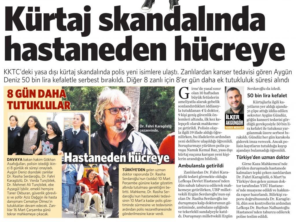 10 Mart 2016 Vatan Gazetesi 4. sayfa